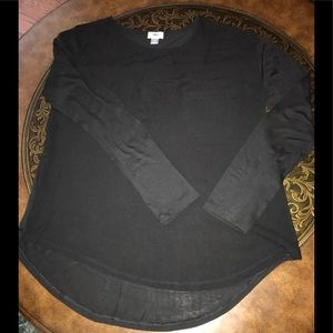 Old Navy Black Long Sleeve Scoop Neck Top
